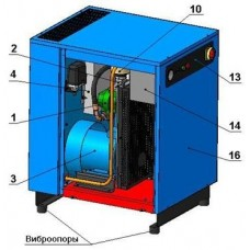 Винтовой компрессор без контроллера ВК5-8(10/15)